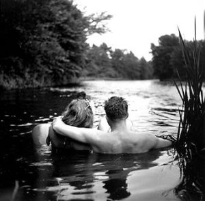 couple on river