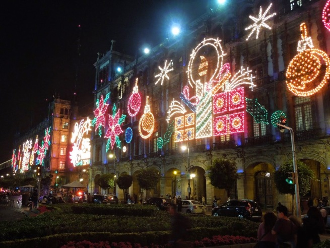lights in the zocalo